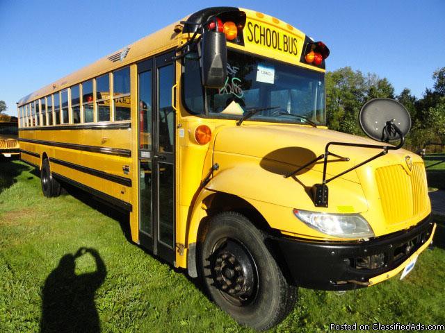 2010 77 Passenger IC CE Used School Bus 6.4 Diesel Engine 128463K3