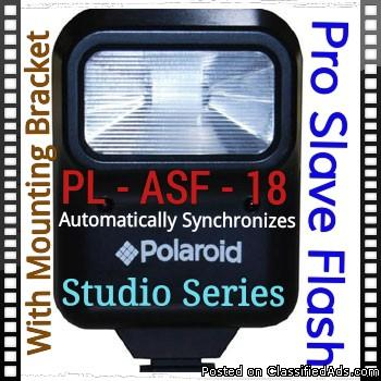 Photo 🎆Polaroid Flash 🎆     📷   ➡ PL-ASF 18 🎥 with Mounting Bracket - 📷 Studio Series 📷 - Pro Slave 💝 Synchronize🎆Perfectly with major Camera Brands 🎆Perfect 🎆    or Electric Edger