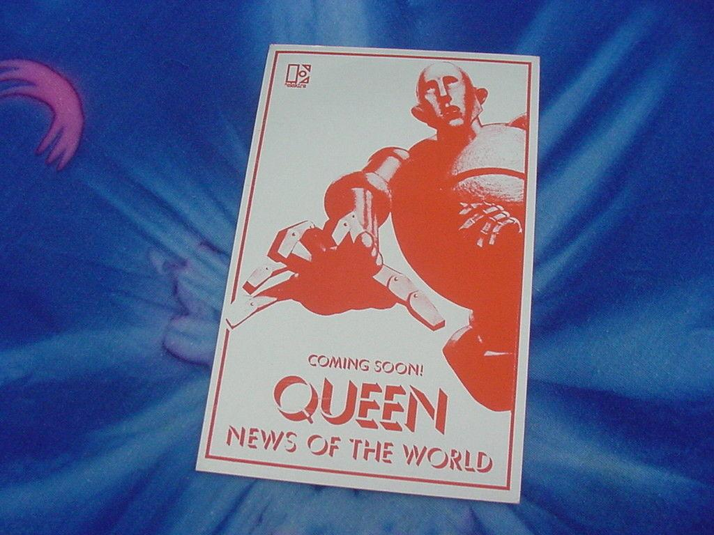 Photo QUEEN U.S. WINTER TOUR DATE CARD,NOV./DEC.'77,NEWS OF THE WORLD,MINT COND.,RARE