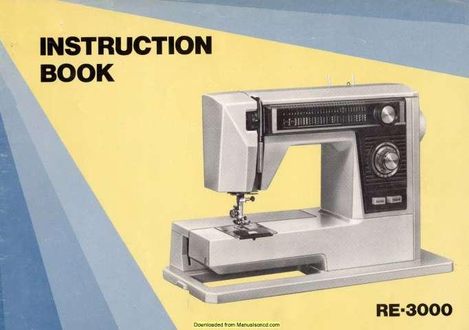 Photo New Home RE-3000 Sewing Machine Instruction Manual