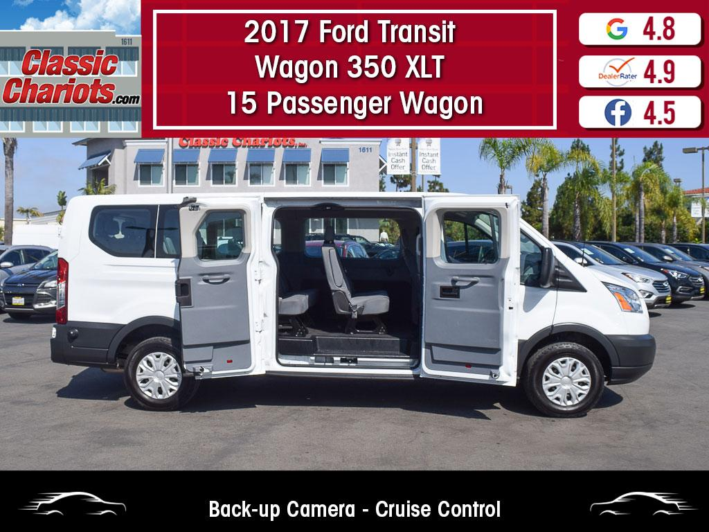 used 2017 ford transit wagon 350 xlt 15 passenger wagon for sale in san diego - 20352r