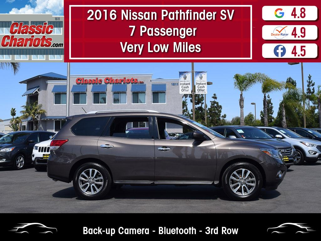 used 2016 nissan pathfinder sv 7 passenger for sale in san diego - 20373
