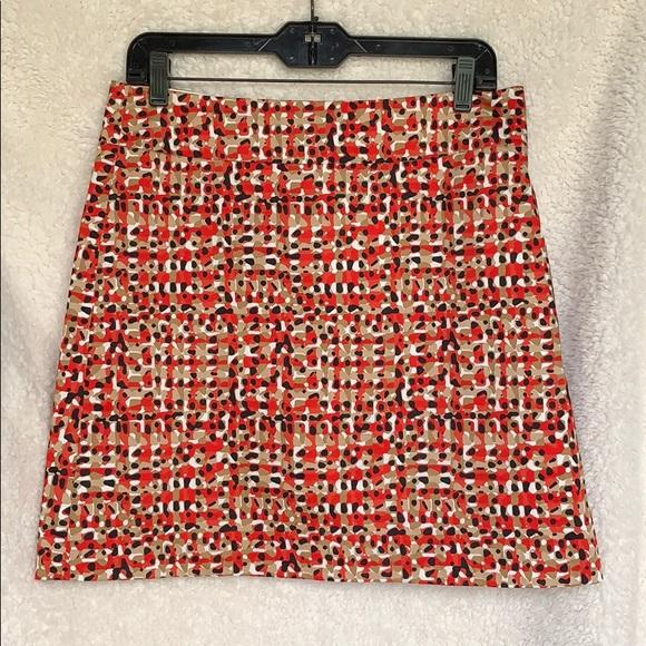 Photo Ann Taylor A Line Skirt Colorful Size 8 Petite NEW