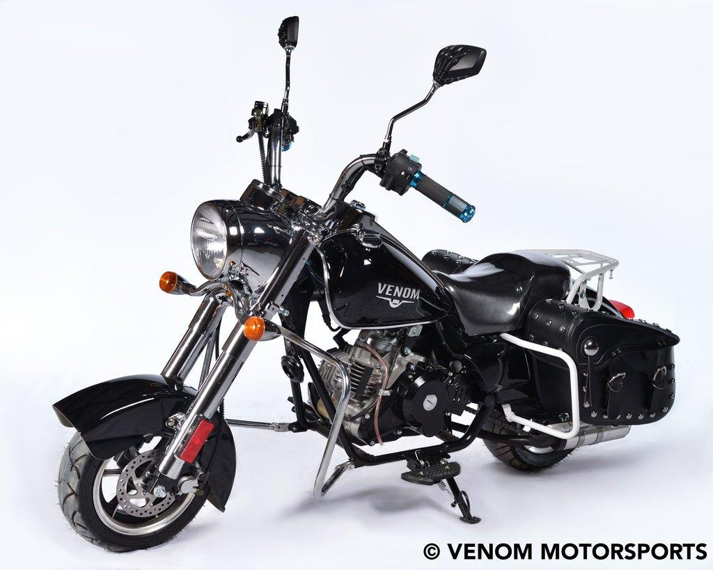 Photo Buy 50cc FatBoy Mini Chopper For Sale Snap-On Harley Chopper for Kids – Venom Motorsports Canada