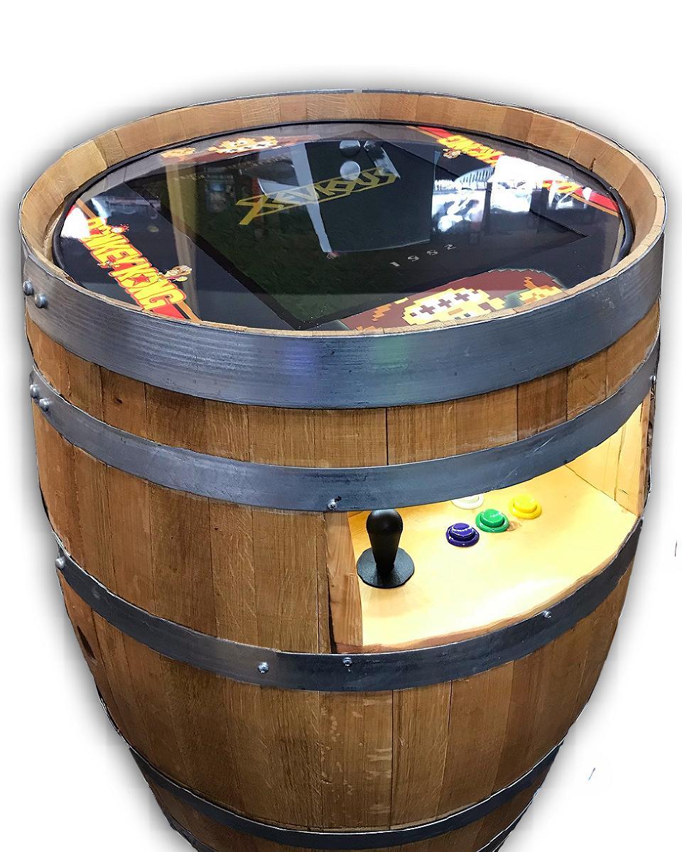 Photo Donkey Kong 60in1 Multicade Wine Barrel Unit NEW!