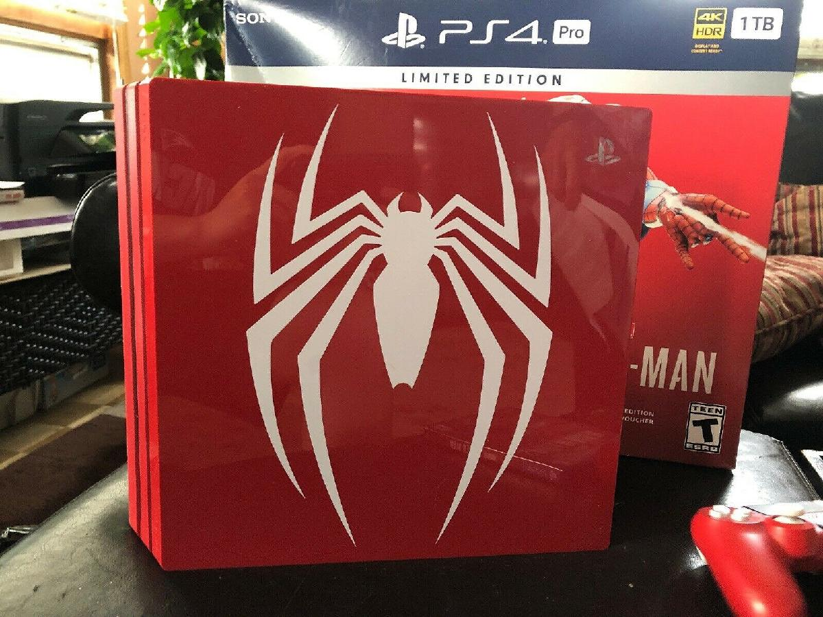 Photo Brand New Sony PS4 Pro Console Bundle~Marvel SpiderMan Limited Edition 1 TB