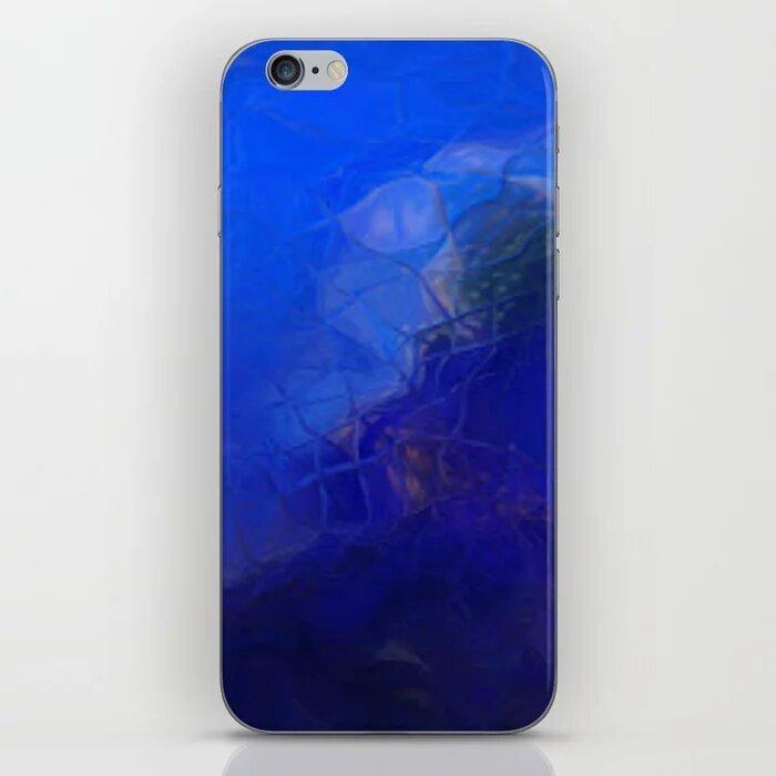 Photo Designed Blue Wave Iphone Skin