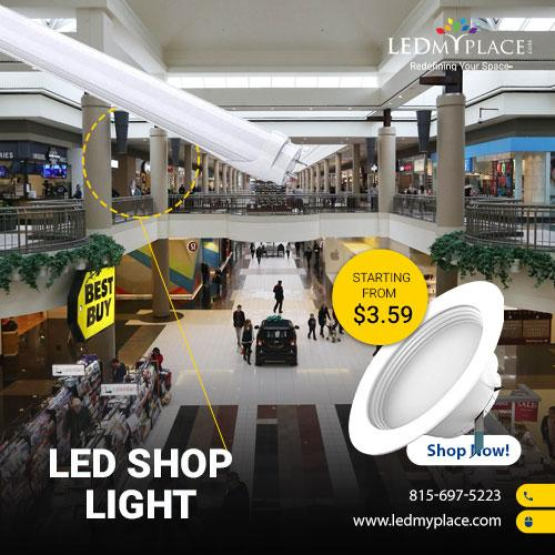 Photo Brighten Up Your Shop With LED Shop Light Fixtures