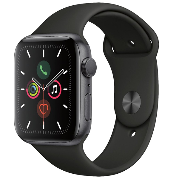 Photo DEAL OF THE DAY!!! Apple Watch Series 5 44mm Space Gray Aluminum Black Band GPS FREE 1 YEAR WARRANTY