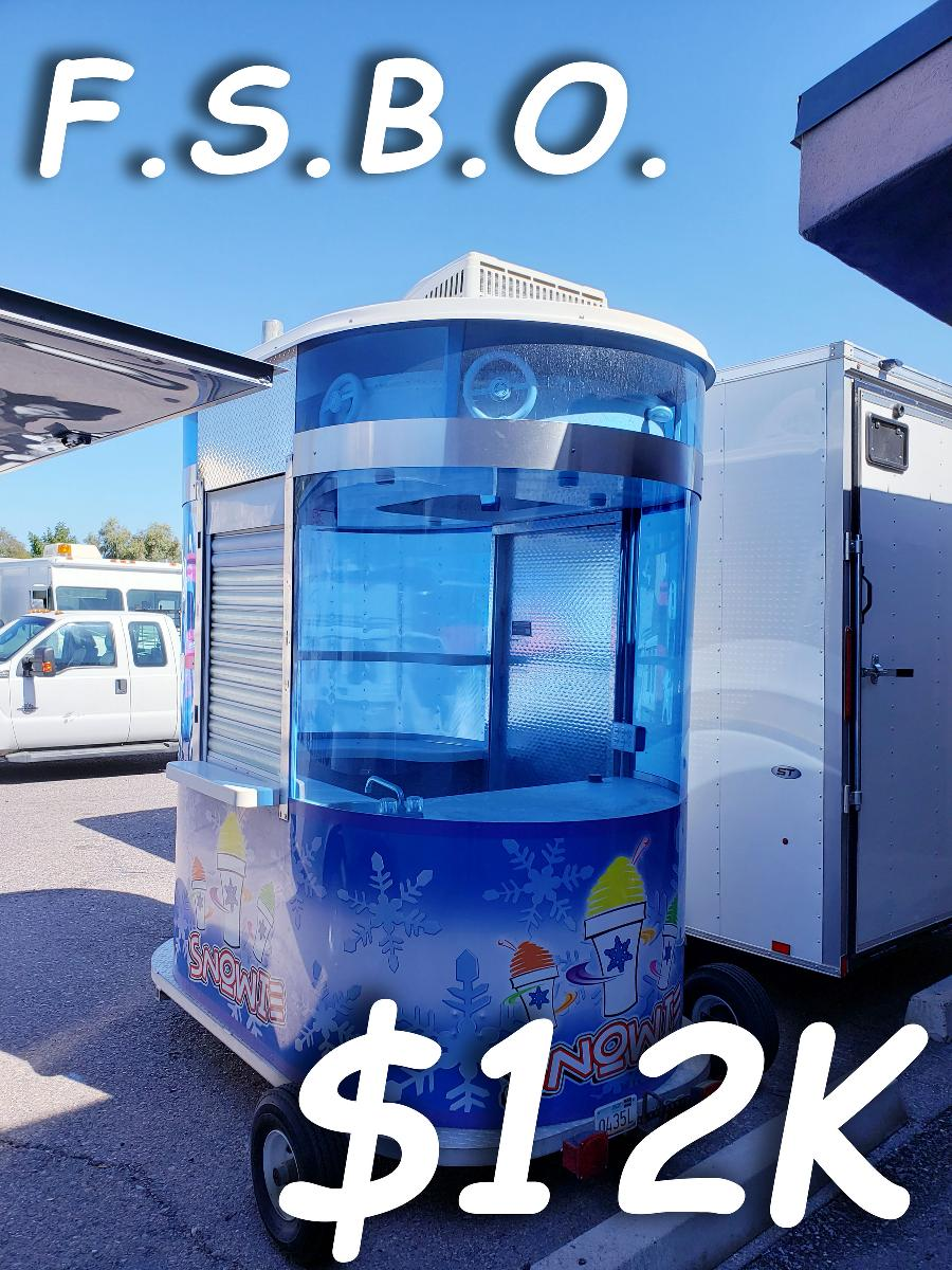 Photo Shaved Hawaiian Ice Snow Kone Sno Cone Concession Trailer Food Truck