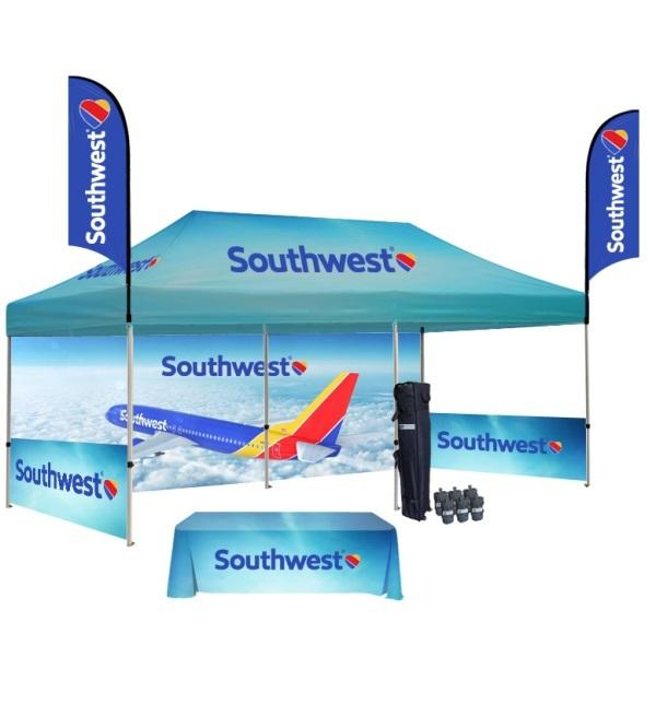 Photo Heavy Duty 10x20 Pop Up Canopy Tents With Full Color Graphics | Georgia