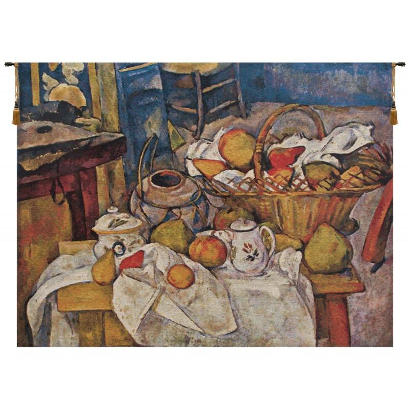 Photo CEZANNE BASQUET ON TABLE BELGIAN TAPESTRY WALL HANGING