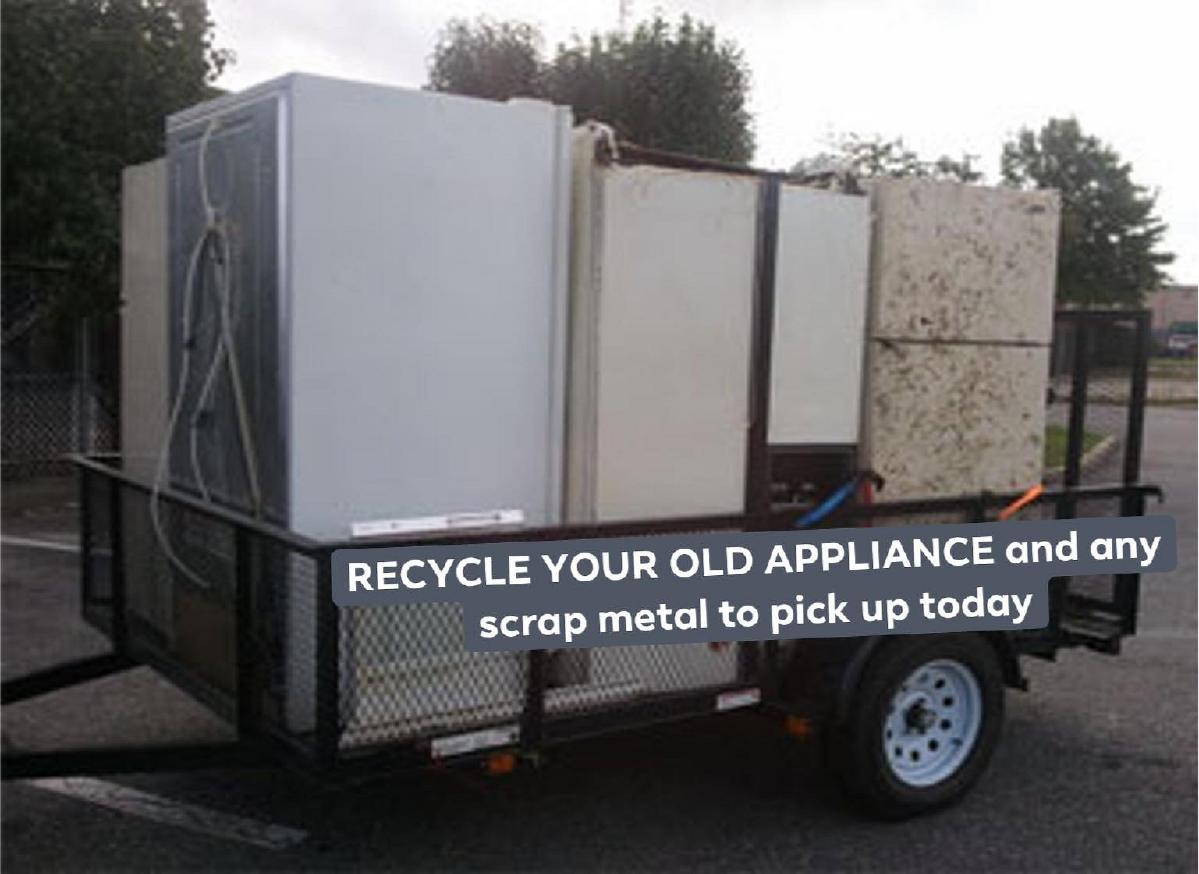 Photo We haul away all such as old washer and dryers and freezers and other scrap to removal and junk appliance pick up or We pick up refrigerator we accept non-working and working appliances. Got more than one appliances no problem. We do used appliances pick