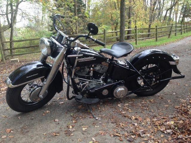 Photo Vintage Harley Panhead El, Police Bike 61ci