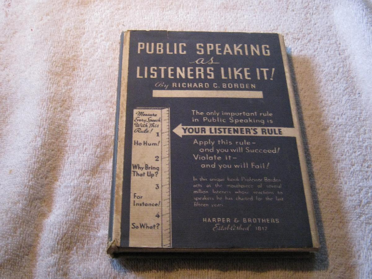 Photo Public Speaking as Listener's Like It – Copyright 1935
