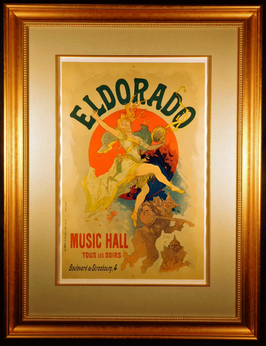 Photo El Dorado Original 1894 Color Lithograph by Jules Cheret