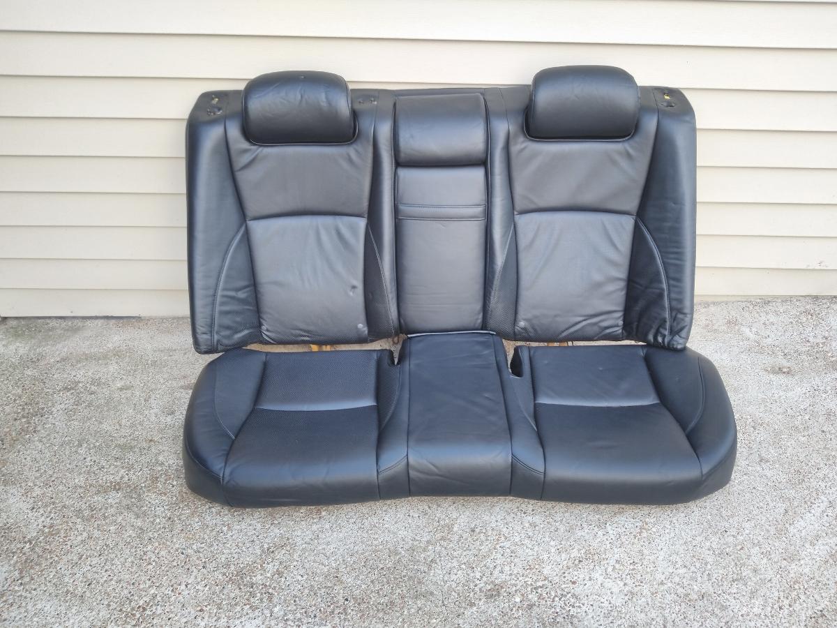Photo 2007 lexus es350 rear black leather seat