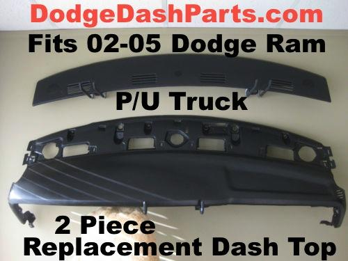 Photo 02-05 Dodge Ram Dash Top Replacement 2 Piece NEW