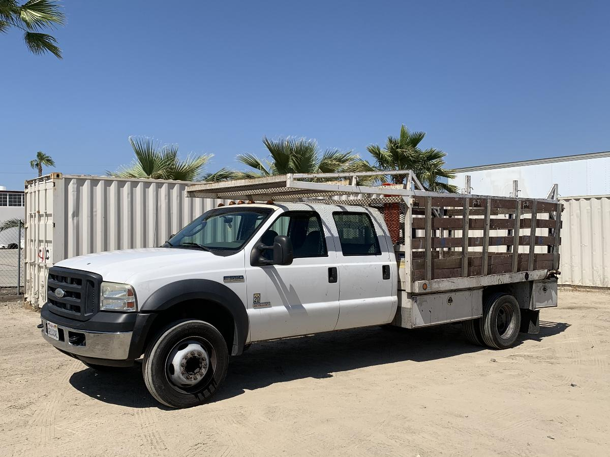 Photo 2007 FORD F550 CREW CAB FLATBED TRUCK #14108202